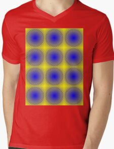 """WHIMSICAL 3D ABSTRACT"" Fun Psychedelic Print Mens V-Neck T-Shirt"