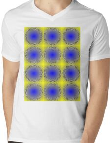 """""""WHIMSICAL 3D ABSTRACT"""" Fun Psychedelic Print Mens V-Neck T-Shirt"""