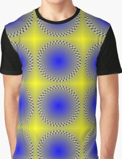 """""""WHIMSICAL 3D ABSTRACT"""" Fun Psychedelic Print Graphic T-Shirt"""