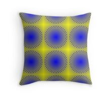 """WHIMSICAL 3D ABSTRACT"" Fun Psychedelic Print Throw Pillow"