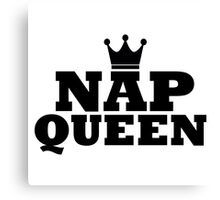 Nap Queen Crown Canvas Print