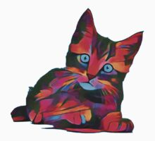 Cute Rainbow Kitten One Piece - Short Sleeve