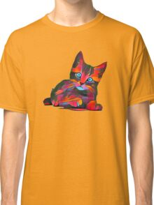 Cute Rainbow Kitten Classic T-Shirt