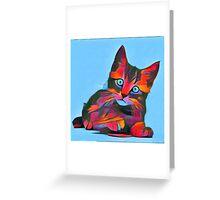 Cute Rainbow Kitten Greeting Card