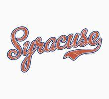 Syracuse Script Orange VINTAGE Kids Clothes