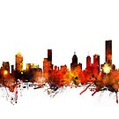 Melbourne Australia Skyline by Michael Tompsett