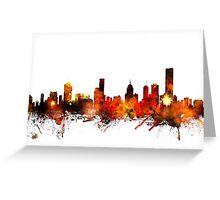 Melbourne Australia Skyline Greeting Card