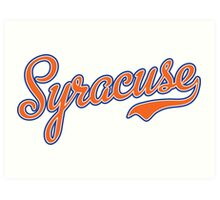 Syracuse Script Orange  Art Print