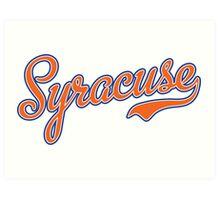 Syracuse Script Orange  Art Print