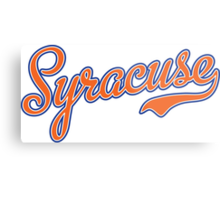 Syracuse Script Orange  Metal Print