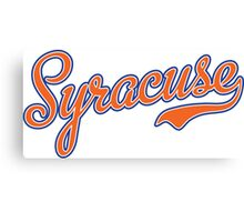 Syracuse Script Orange  Canvas Print