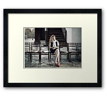 I hate those photographers... Framed Print