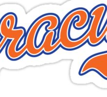 Syracuse Script Orange  Sticker