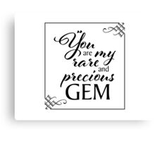 my rare and precious gem Canvas Print