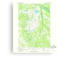USGS TOPO Map Alaska AK Sleetmute B-1 359239 1954 63360 Canvas Print