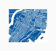 Jersey City Map - Deep Blue Unisex T-Shirt