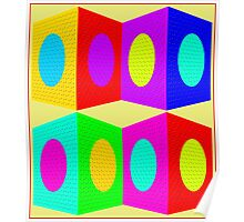 """""""PSYCHEDELIC BLOCKS"""" 3D Whimsical Print Poster"""