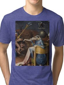 Insight Into Hell by Hieronymus Bosch Tri-blend T-Shirt