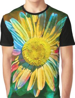 Rainbow Daisy Flower Graphic T-Shirt