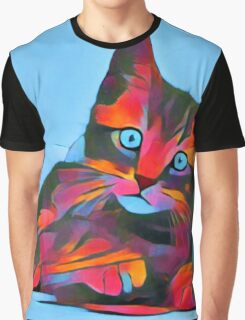 Cute Rainbow Kitten Graphic T-Shirt
