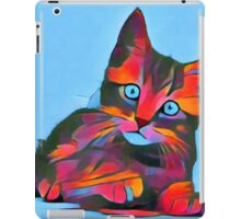Cute Rainbow Kitten iPad Case/Skin