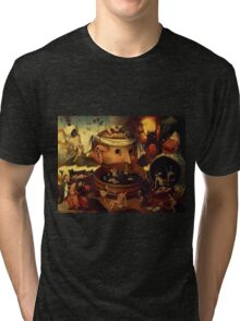 An Insight Into Hell 2 by Hieronymus Bosch Tri-blend T-Shirt