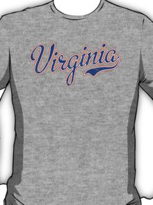 Virginia Script Blue VINTAGE T-Shirt