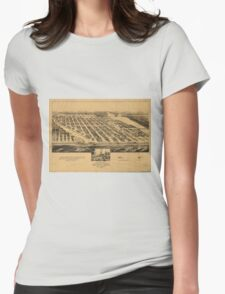 Vintage Pictorial Map of Asbury Park NJ (1881) Womens Fitted T-Shirt