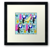 Adventure time character print Framed Print