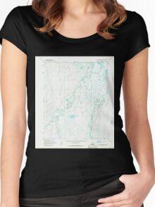 USGS TOPO Map Alaska AK Sagavanirktok D-2 358706 1955 63360 Women's Fitted Scoop T-Shirt