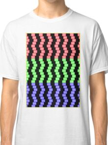 """""""ABSTRACT 3D BLOCKS"""" Psychedelic Print Classic T-Shirt"""