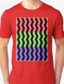 """ABSTRACT 3D BLOCKS"" Psychedelic Print Unisex T-Shirt"
