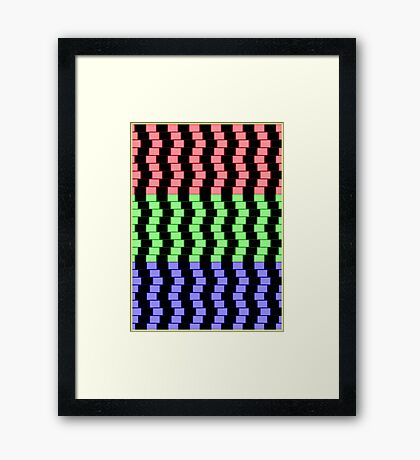 """""""ABSTRACT 3D BLOCKS"""" Psychedelic Print Framed Print"""