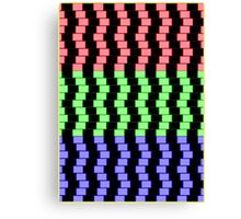 """ABSTRACT 3D BLOCKS"" Psychedelic Print Canvas Print"