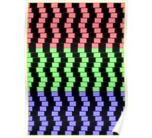 """""""ABSTRACT 3D BLOCKS"""" Psychedelic Print Poster"""