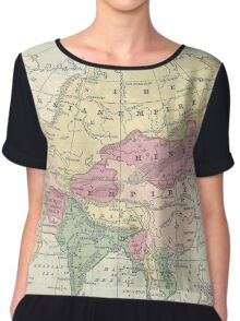 Vintage Map of Asia (1872) Chiffon Top