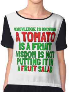 Food Humor Funny Tomato Cute Random Quote Chiffon Top