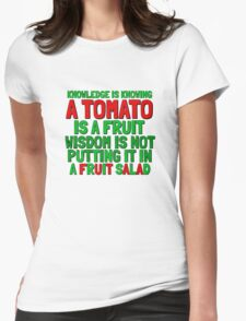 Food Humor Funny Tomato Cute Random Quote Womens Fitted T-Shirt