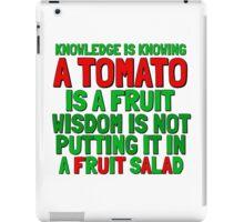 Food Humor Funny Tomato Cute Random Quote iPad Case/Skin