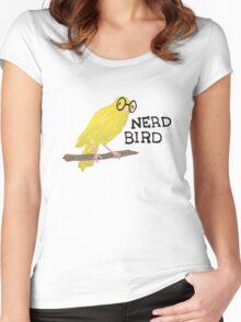 Nerd Bird Canary Women's Fitted Scoop T-Shirt
