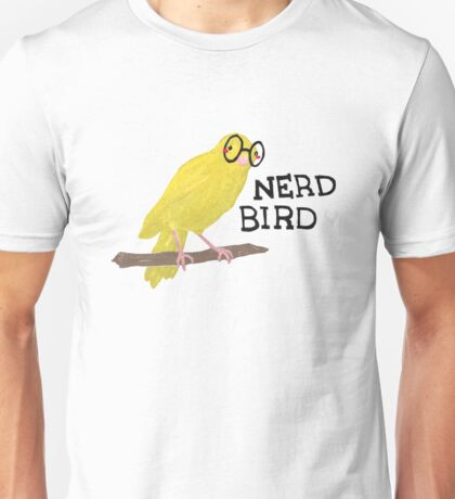 Nerd Bird Canary Unisex T-Shirt