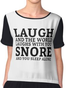 Laugh Snore Funny Oldboy Pun Random Humor Cool Chiffon Top