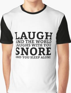 Laugh Snore Funny Oldboy Pun Random Humor Cool Graphic T-Shirt
