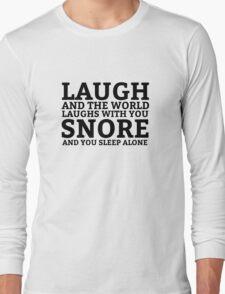 Laugh Snore Funny Oldboy Pun Random Humor Cool Long Sleeve T-Shirt