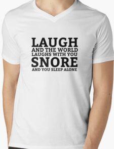 Laugh Snore Funny Oldboy Pun Random Humor Cool Mens V-Neck T-Shirt