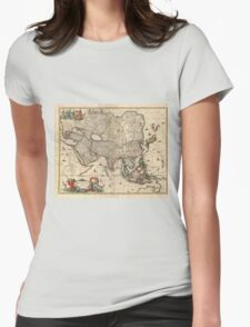 Vintage Map of Asia (1689) Womens Fitted T-Shirt