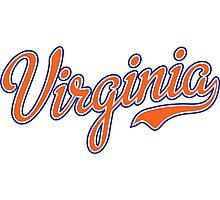 Virginia Script Orange  Photographic Print