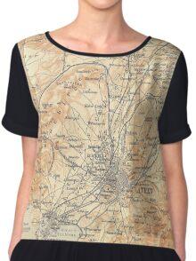 Vintage Map of Athens Greece (1908) Chiffon Top
