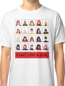 Fight Like A (Marvel) Girl. Classic T-Shirt