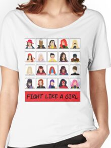 Fight Like A (Marvel) Girl. Women's Relaxed Fit T-Shirt